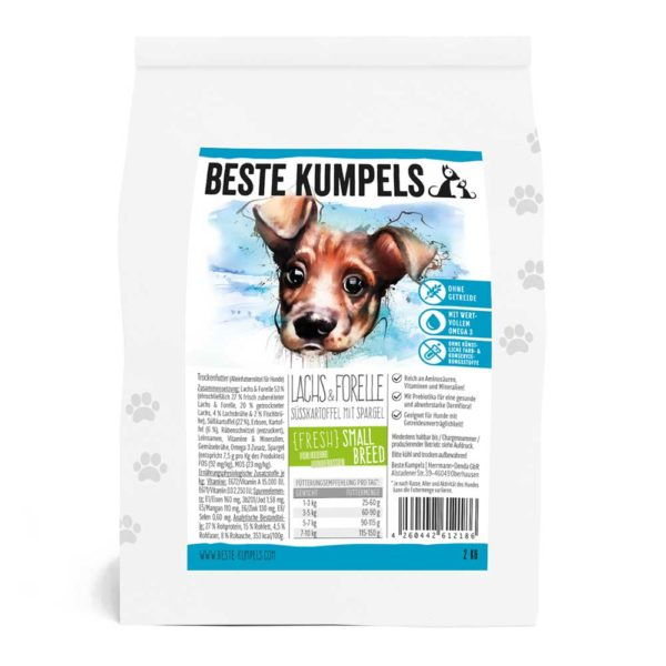 BESTE KUMPELS Trockenfutter FRESH Lachs & Forelle Small Breed
