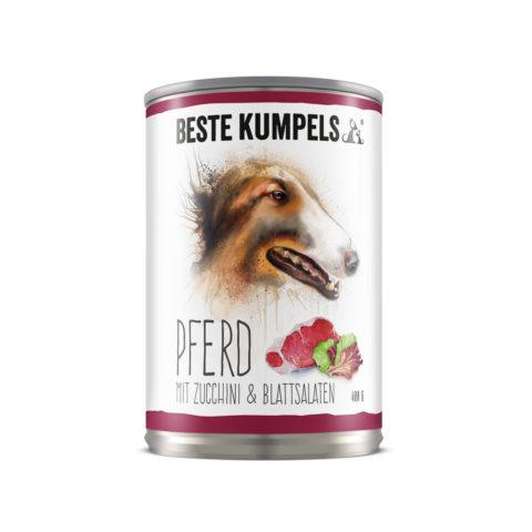 Nassfutter Pferd mit Zucchini & Blattsalaten