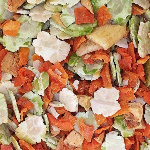 Gemüse-Frucht Flocken Mix